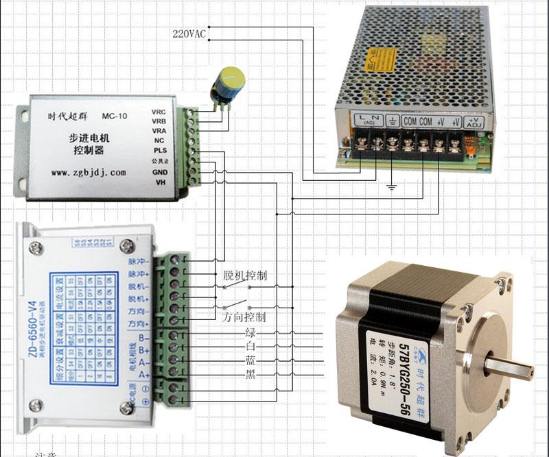 直流无刷控制器接线/无刷电机接线图(jz7)-中国   微型电动机-供应
