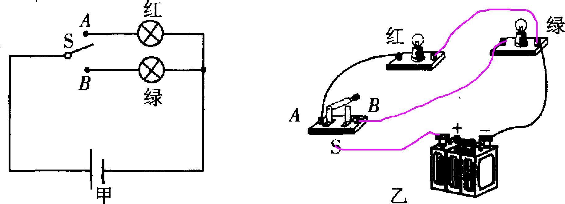 请你根据图甲所示的电路图,用笔画线代替导线,将图乙中未连接好的