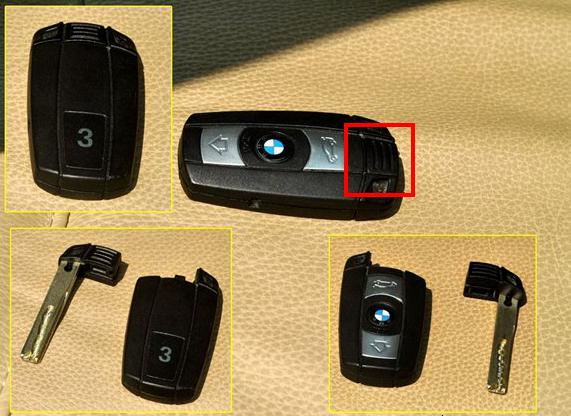 宝马x1钥匙壳怎么打开