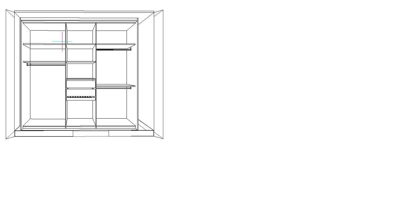 哪位大师知道画衣柜的透视图,知道的留个qq