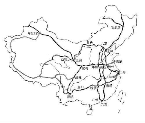 地图 简笔画 手绘 线稿 500_424