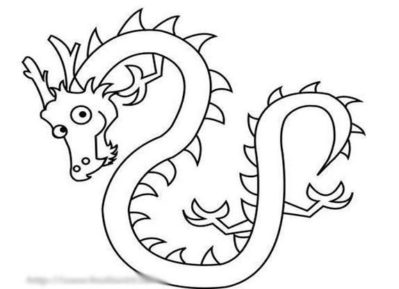 龙怎样画求图片简单点的