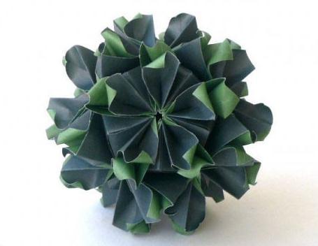 手工植物折纸步骤
