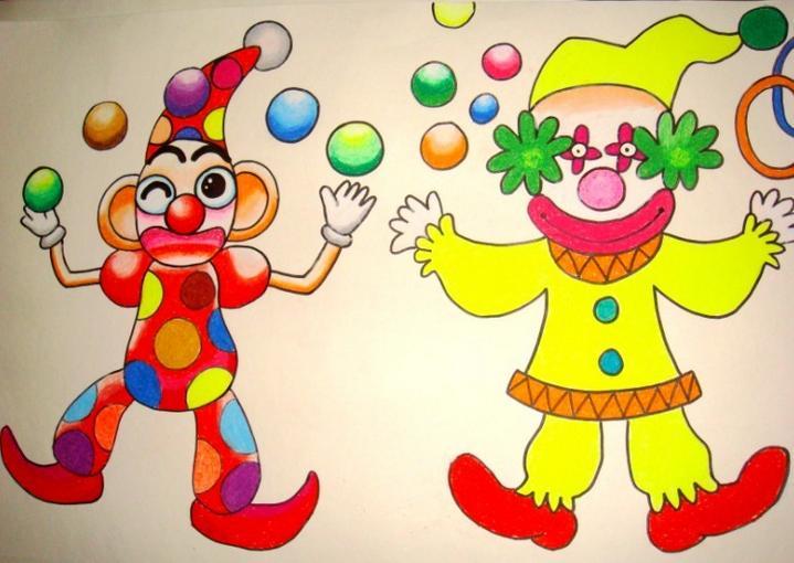 小丑怎么画
