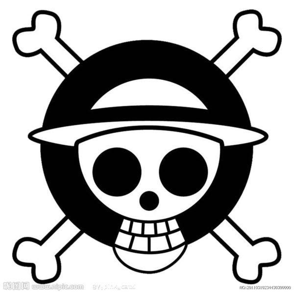 求大神给一个dxf格式的海贼王标志,我们在金工实习,做图片