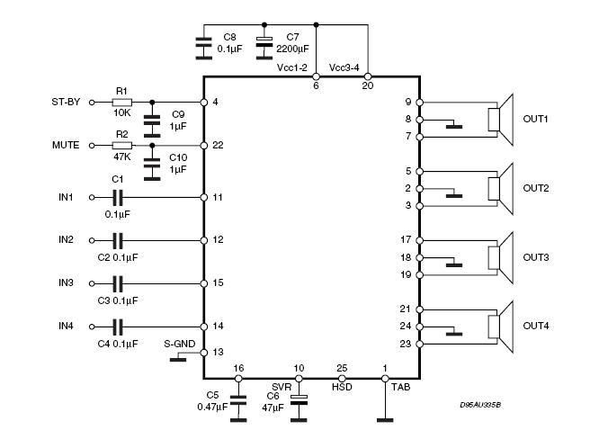 tda7388功放电路图