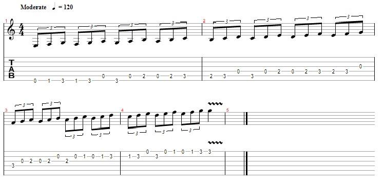 答案用吉他弹的谱子