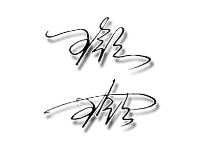 簽名設計《王領》兩個字求大師幫忙設計下圖片
