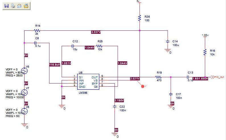 急求简单的单电源5v的麦克音频放大电路设计图