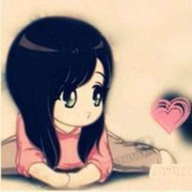 找一对卡通情侣头像 我手里有一张女孩子的 想找另外一张 图片背景是