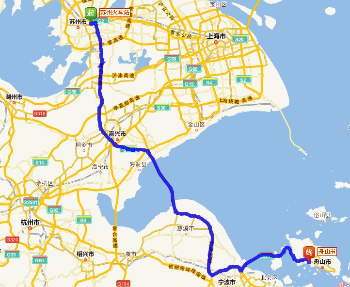 舟山市旅游地图