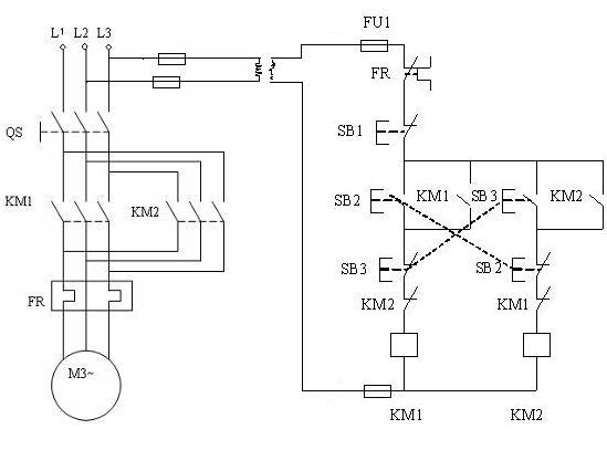 380v电机正反转要带24v变压器求电路图