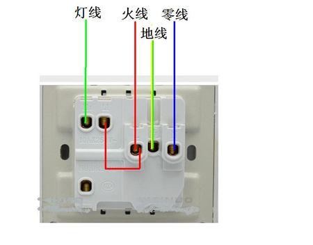有两根线.现在换一灯二三插应该点接线.灯不控制开关.图片
