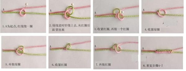 金刚结红绳手链编法.最好是一个节奏一个节奏的 拍下来.拜托啦