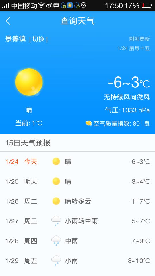 景德镇近半个月的天气预报15天+