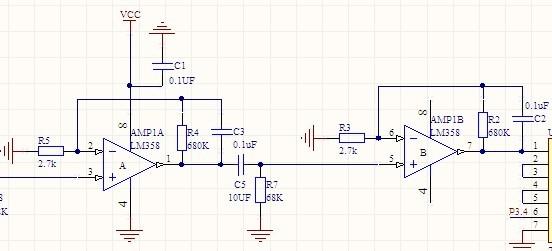 求图中二级运算放大器放大的倍数,要有具体过程