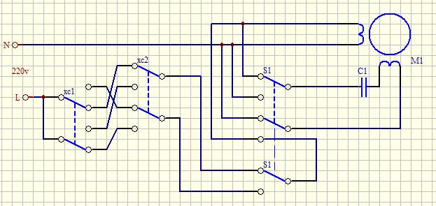 单相电机在利用倒顺开关控制的时候,如何使其在运行时