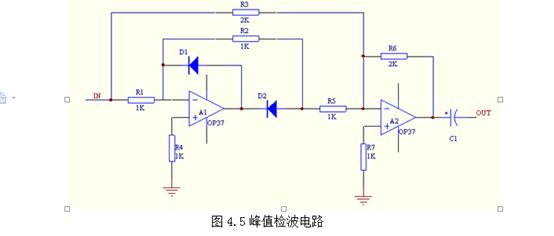 这个op37运放做的峰值检测电路能用吗?