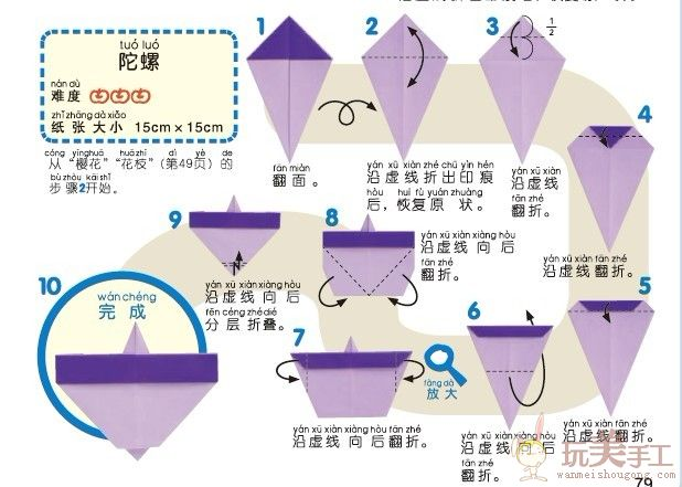 a4纸折纸陀螺,只能用一张a4纸.求详细步骤,链接也可以