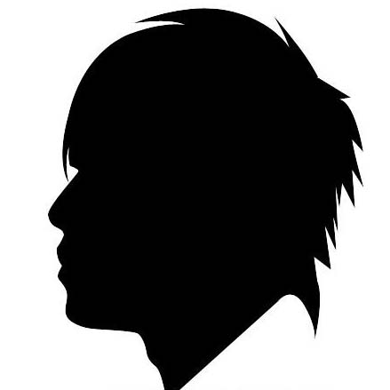 周杰伦的白底黑色侧脸qq头像