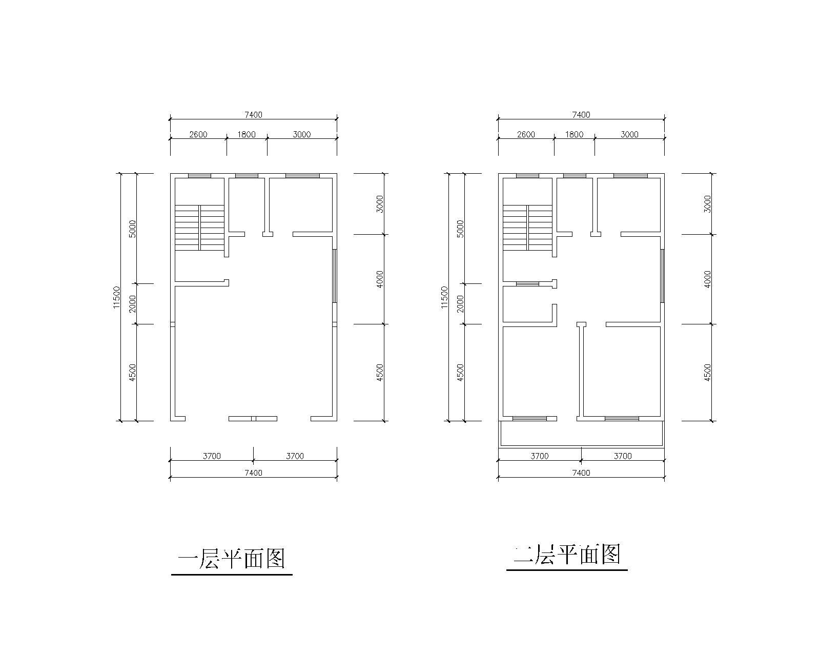求8*12农村房屋建筑结构户型图,占地面积:南北宽8米,东西长12米 朝向