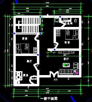 求长11米宽6米房屋设计图,我家在中间,两边都做了房,做两层,该怎么
