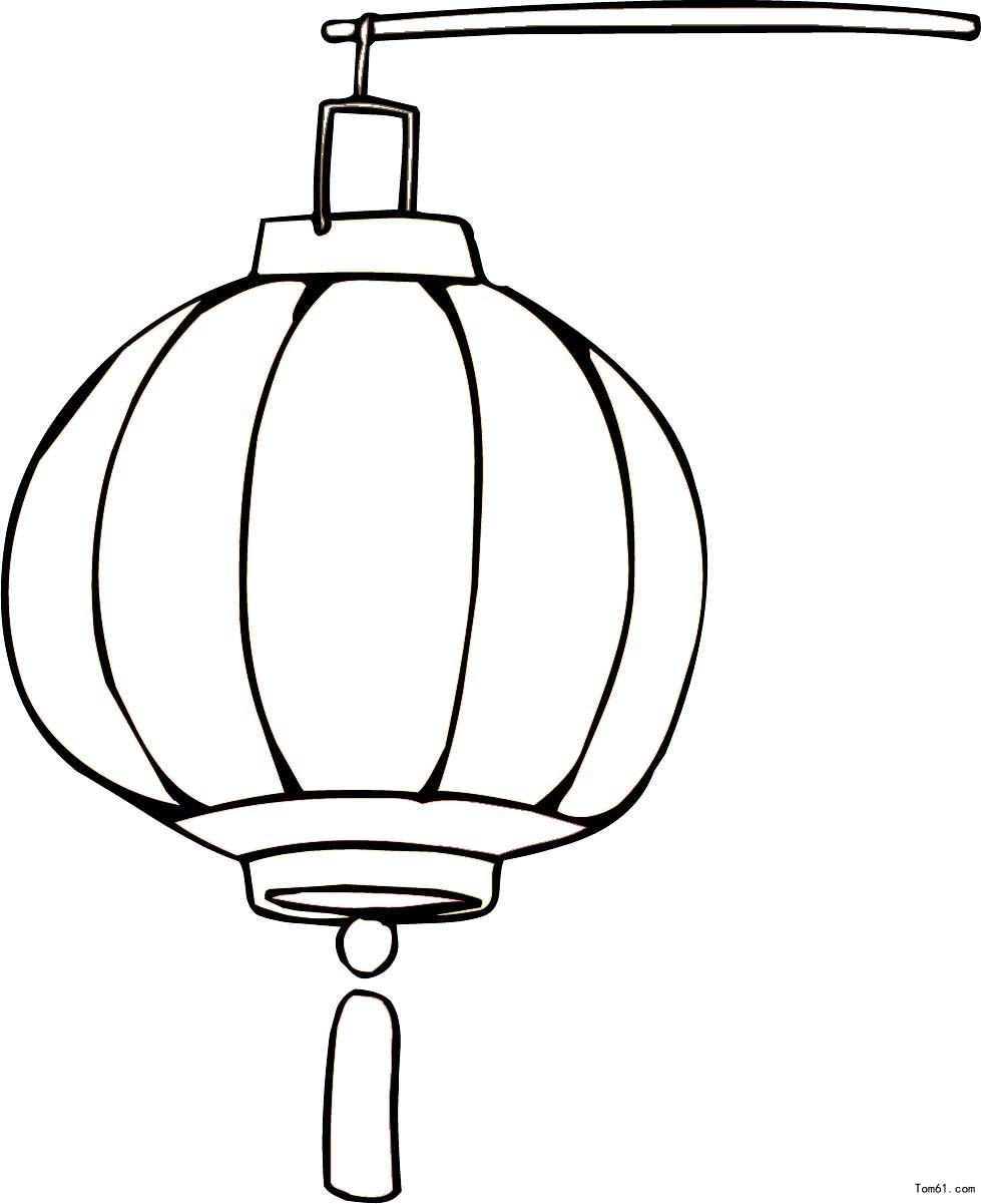 灯笼的简笔画