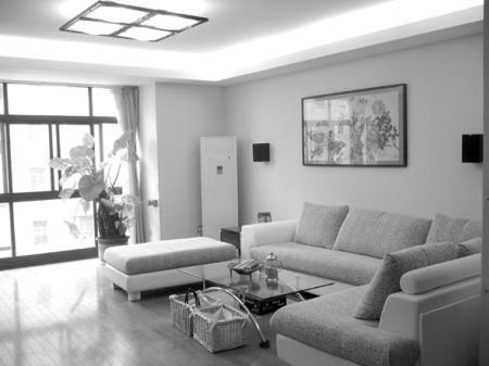 灰色地板白色墙面配什么颜色窗帘效果图