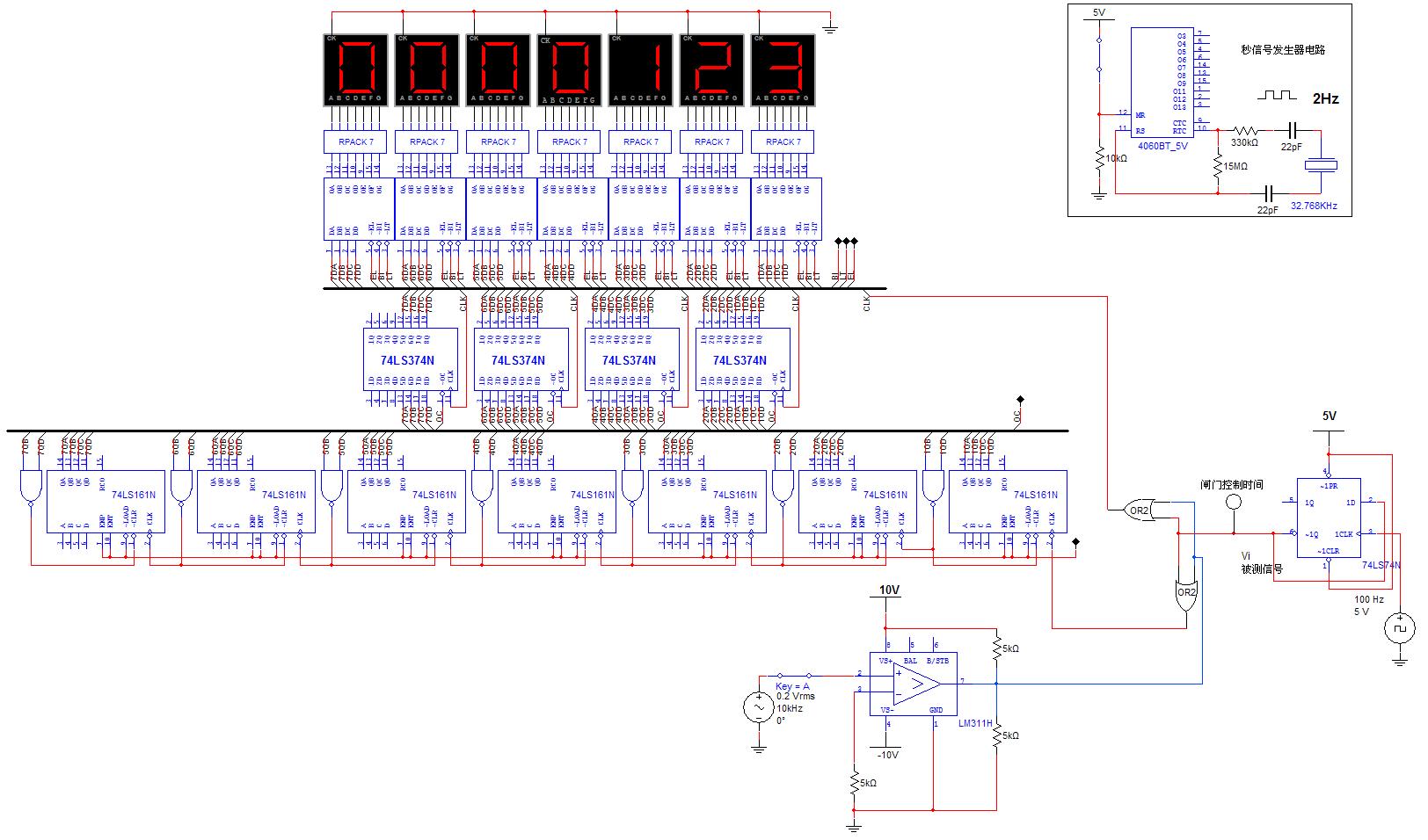 数字频率计设计(请附上电路图)