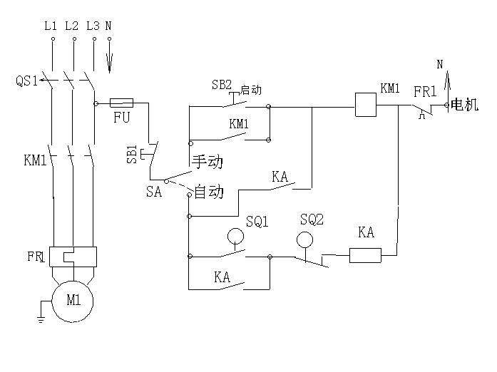 二次接线图    2,调试前先开控制电路,即:先开380断路器右边的220v 断