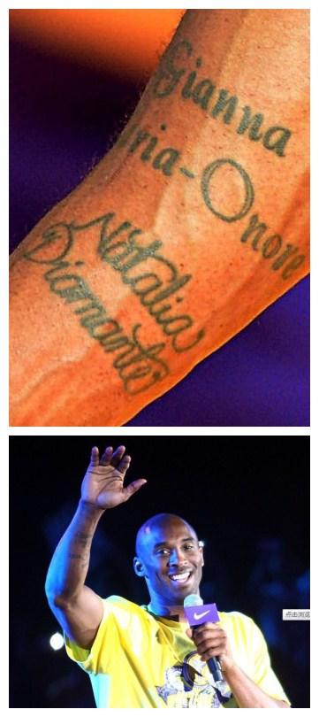科比手上的纹身写的是什么字?见图图片