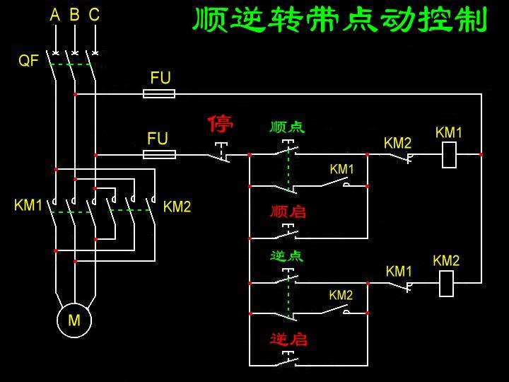 求一台电动机正反转自锁点动电路图 配线图·求各位高手指点