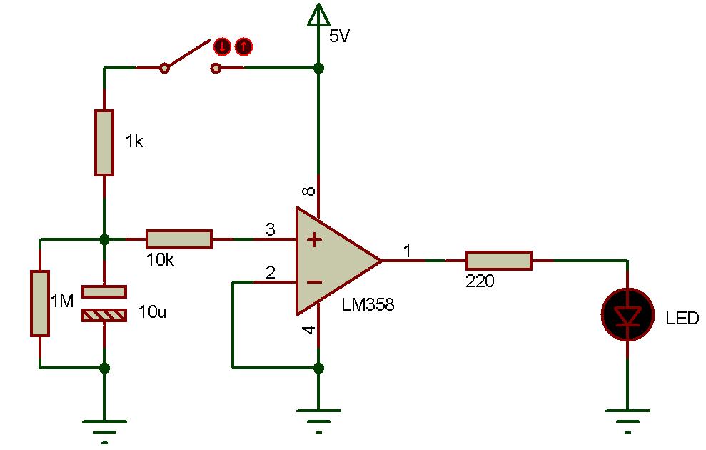 rc串联电路暂态过程实物图