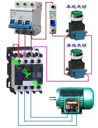 用两个按钮两个光电开关控制一个接触器,上限启动,下限停止,怎样连接