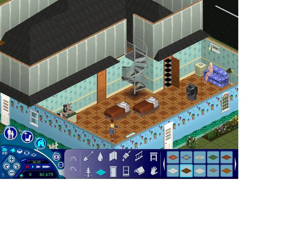 模拟人生超级明星一楼扩大了建二楼房顶就盖不了一楼扩大的地方,怎麼