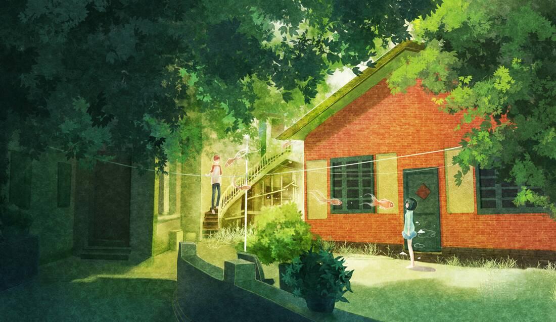 求温馨可爱的房子二次元图片三张,认真挑选.
