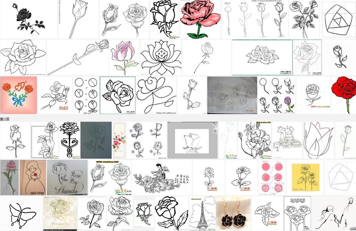 如何画玫瑰花 图解