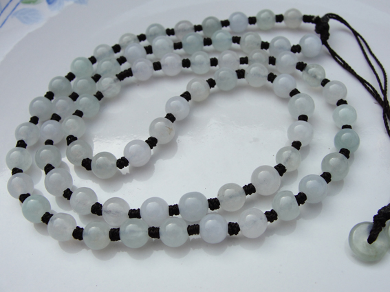 求翡翠圆珠项链的编法,项链绳结的编织大全.