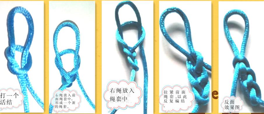 绳子单线编法图解