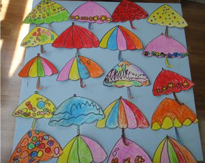 怎么画雨伞