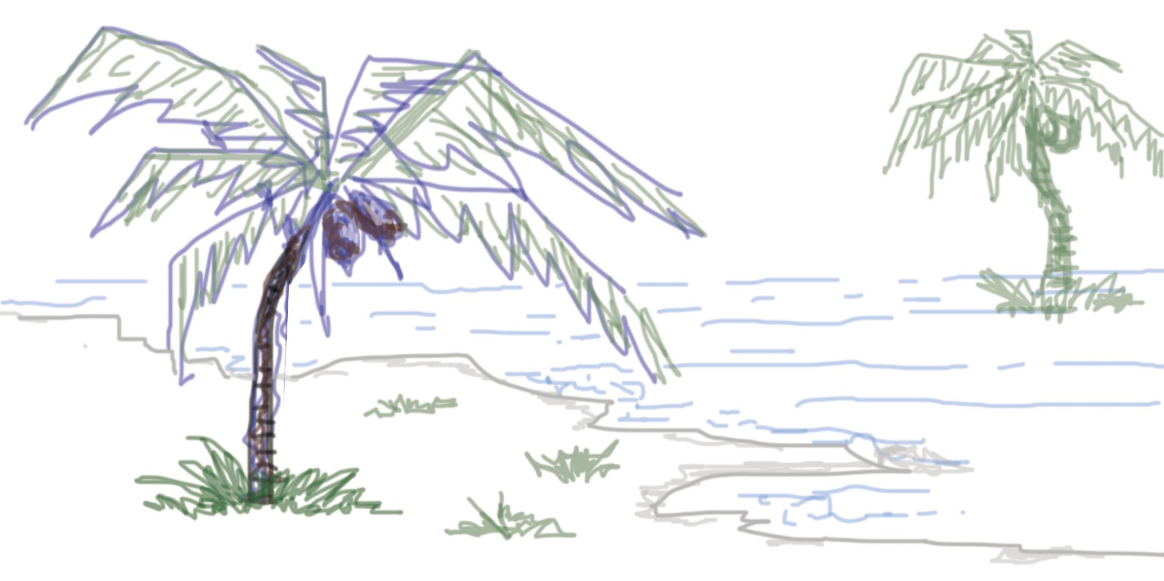 椰子树咋画