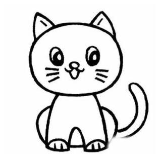 可爱的小猫简笔画怎么画