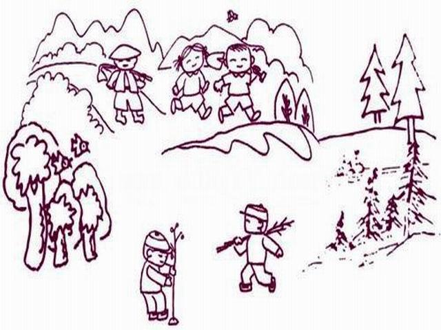 求图片:我们爱劳动简笔画