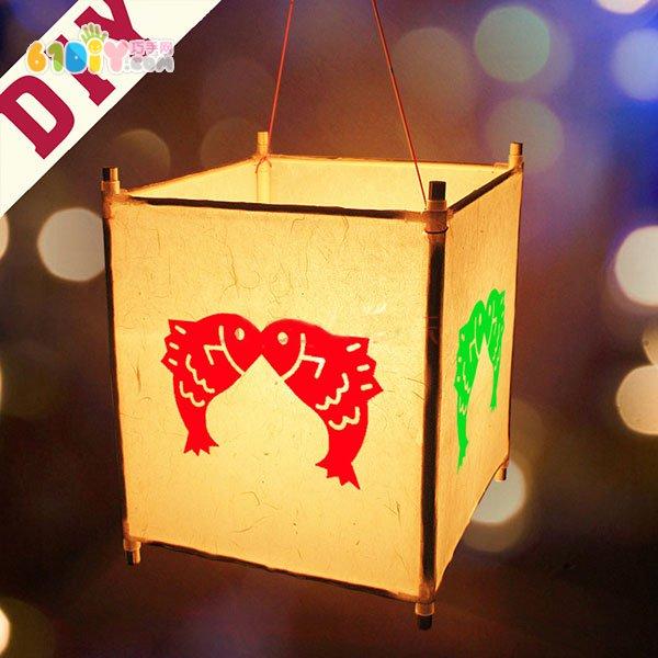 手工制作花灯方法 用卡纸怎么做灯笼