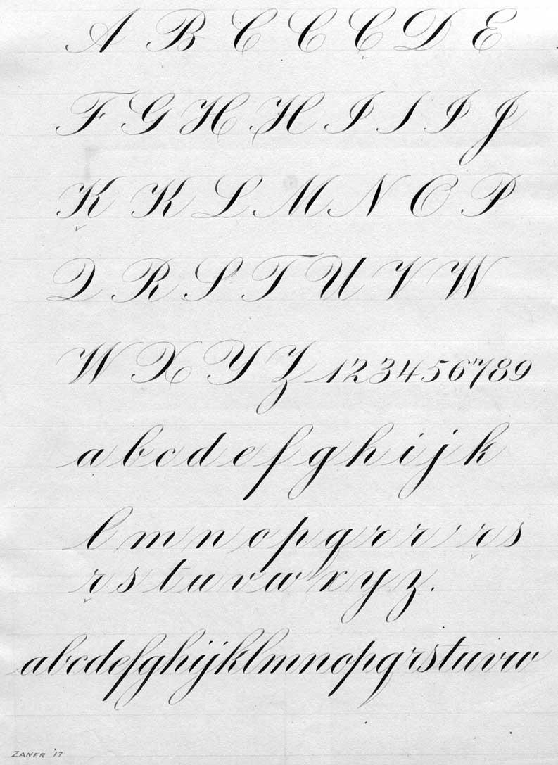 英语字母中圆体字的书写方式和写出来的是什么样子?图片