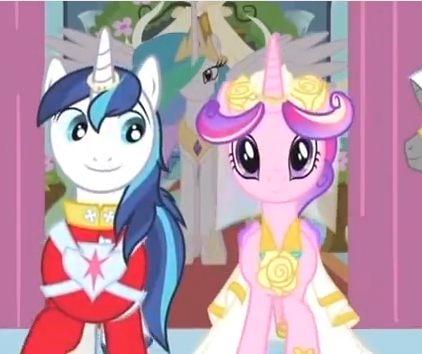 谁有小马宝莉音韵公主的婚纱照(超需要现在就要!