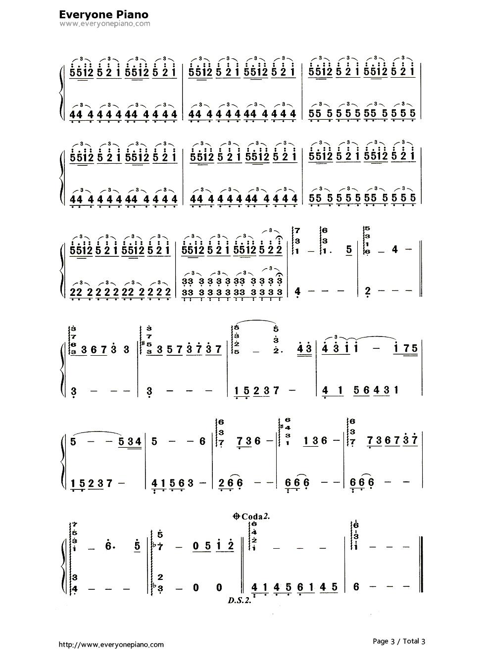 summer钢琴谱简谱