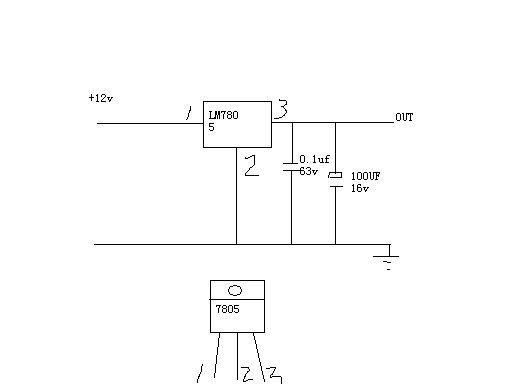 12v转5v的电路图