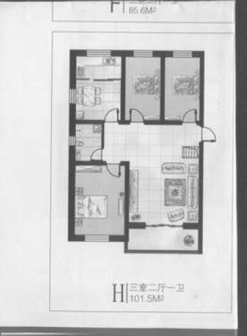 三室一厅装修设计