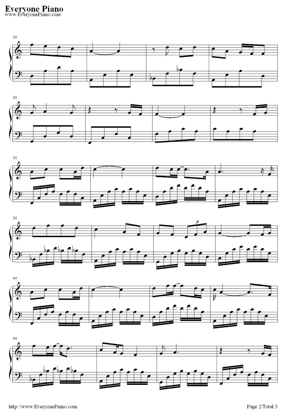 张杰angel的钢琴谱,五线谱,简谱都行